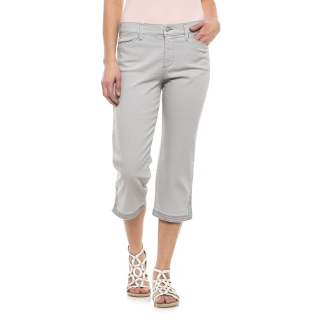 Ariel Crop Pants with Contrast Stitching (For Women)