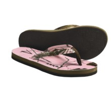 Arks Outdoors Realtree® AP Pink Thong Sandals - Neoprene (For Women) in Ap Pink - Closeouts