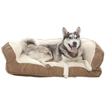 "Arlee Franklin Deep-Seated Lounger Dog Bed - 40x25"" in Driftwood - Closeouts"