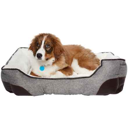 """Arlee Galena Lounger Hyde Dog Bed - 33x25"""" in Drizzle - Closeouts"""