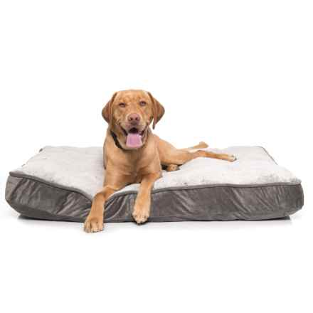 "Arlee OrthoLux Orthopedic Foam Dog Bed - 45x36"" in Charcoal - Closeouts"