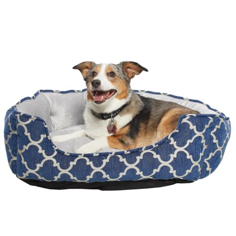 "Arlee Perfect Pet Collection Dog Bed - MemoryFoam, 27x23"" in Ensign Blue"