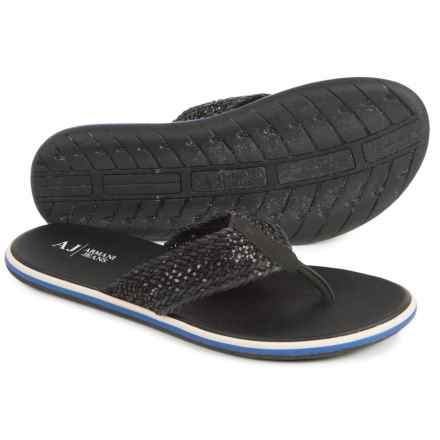 Armani AJ  Jeans VM581 Sandals - Leather (For Men) in Black - Closeouts