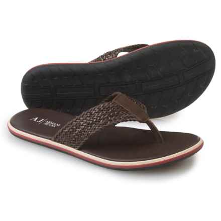 Armani AJ  Jeans VM581 Sandals - Leather (For Men) in Brown - Closeouts