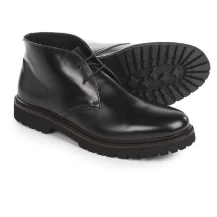 Chukka Boots - Leather (For Men) in Black - Closeouts