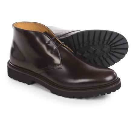 Armani Chukka Boots - Leather (For Men) in Brown - Closeouts