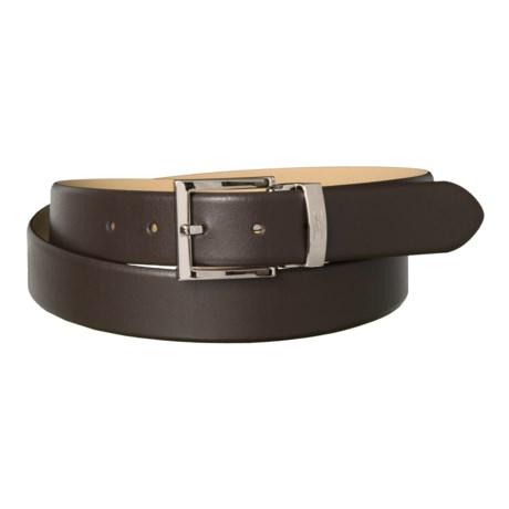 Armani Collezioni Leather Belt (For Men) in Darkbrown