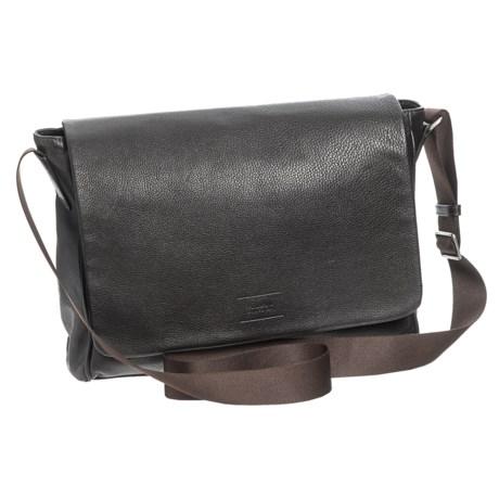 Armani Collezioni Messenger Bag - Leather (For Men) in Tmoro