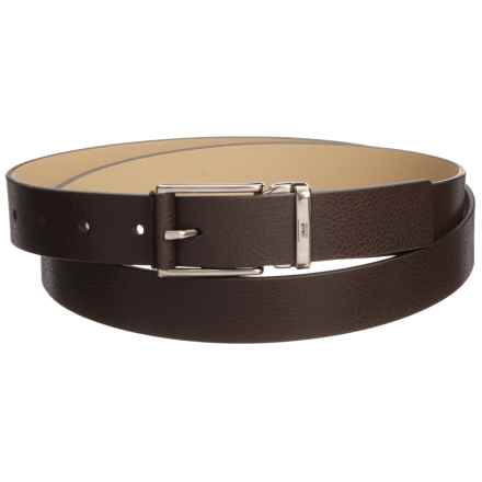 Armani Collezioni Plate Leather Belt - Buckleless (For Men) in Dark Brown - Closeouts