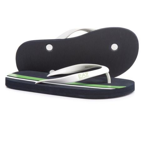 Armani Emporio  EA7 Beach Sandals (For Men) in Green/White