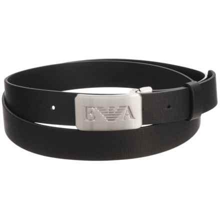 Armani Emporio  Leather Belt (For Men) in Black - Closeouts