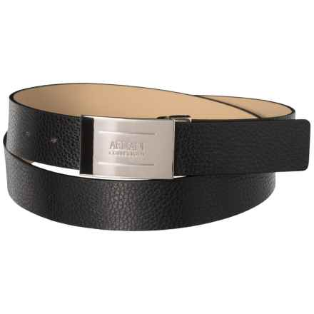 Plate Leather Belt (For Men) in Black - Closeouts