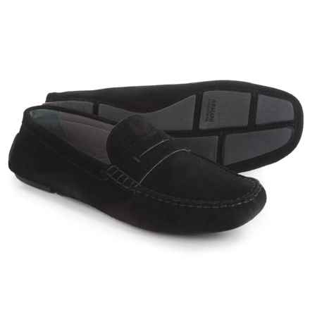 Armani Suede Moc Loafers (For Men) in Black - Closeouts