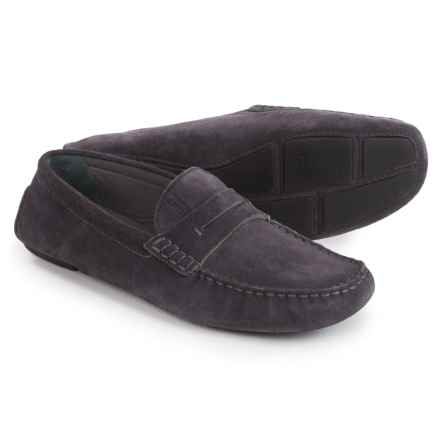 Armani Suede Moc Loafers (For Men) in Fango - Closeouts