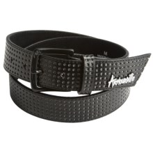 Armourdillo Life Riddle Belt - Leather (For Men) in Black - Closeouts