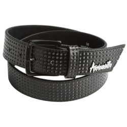 Armourdillo Life Riddle Belt - Leather (For Men) in Black/Green
