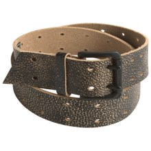 Armourdillo Smith Belt - Leather (For Men) in Black - Closeouts