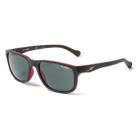 0fe7e30144 Arnette Straight Cut Sunglasses (For Men) in Matte Black Opal Red Grey