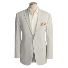 Arnold Brant Seersucker Sport Coat - Cotton-Rich (For Men) in Grey/White - Closeouts