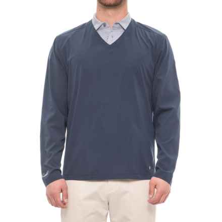 Arnold Palmer First Tee Golf Shirt - Long Sleeve (For Men) in Indigo - Closeouts