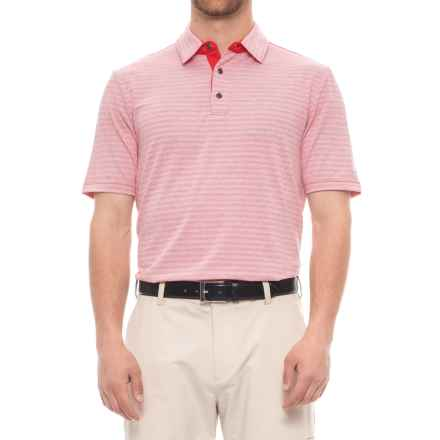Arnold Palmer Ravines Golf Polo Shirt - UPF 20+, Short Sleeve (For Men) in Red - Closeouts