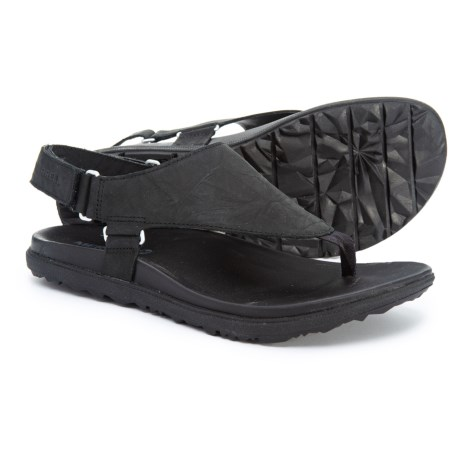 Image of Around Town Sunvue Post Sandals - Leather (For Women)