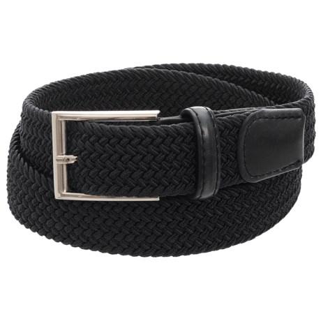 Arrow Elastic Braided Belt (For Men) in Black