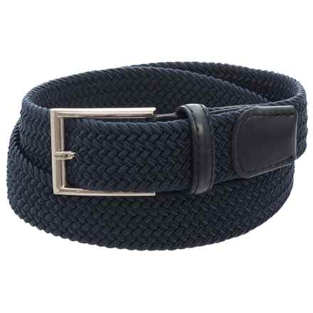 Arrow Elastic Braided Belt (For Men) in Navy - Closeouts