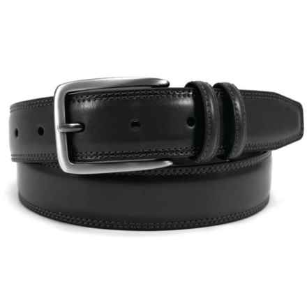 Arrow Feather-Edge Belt - Leather (For Men) in Black - Closeouts
