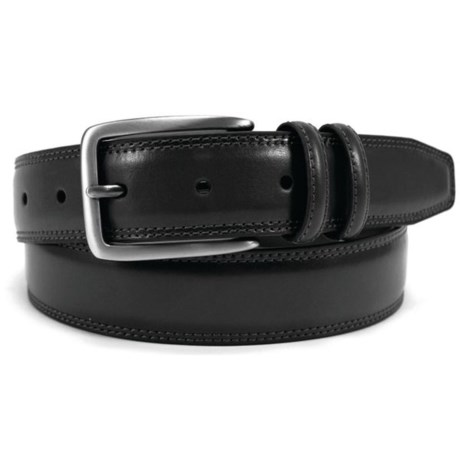Arrow Feather-Edge Belt - Leather (For Men) in Black