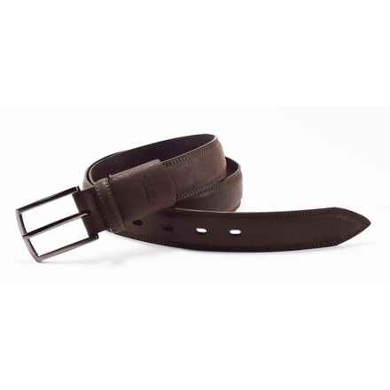 Arrow Pebble Flex Feather-Edge Belt - Leather (For Men) in Brown - Closeouts