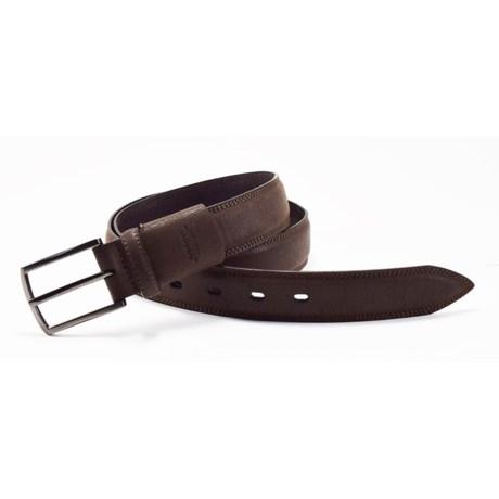 Arrow Pebble Flex Feather-Edge Belt - Leather (For Men) in Brown