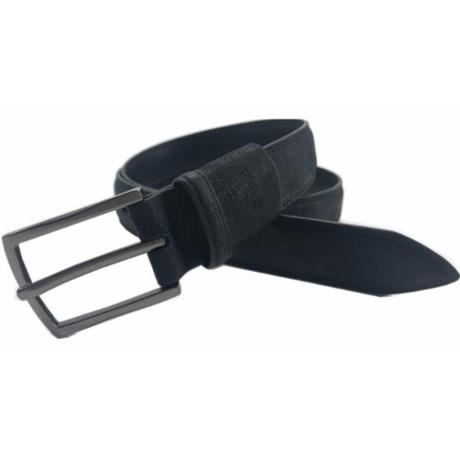 Arrow Pebble Flex Feather-Edge Belt - Leather (For Men) in Navy
