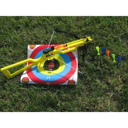 Arrow Precision Badger Cross Bow Toy with Target in Yellow - Closeouts