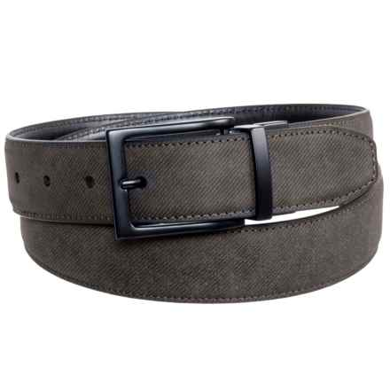 Arrow Reversible Buckle Belt - Leather (For Men) in Brown/Black - Closeouts
