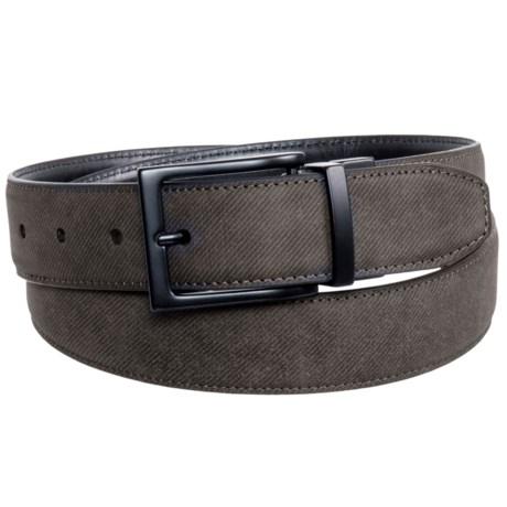 Arrow Reversible Buckle Belt - Leather (For Men) in Brown/Black