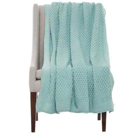 "Artisan de Luxe Chunky Honeycomb Throw Blanket - 50x60"" in Harbor Grey - Closeouts"