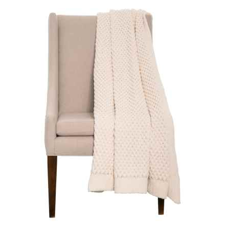 "Artisan de Luxe Chunky Honeycomb Throw Blanket - 50x60"" in Ivory - Closeouts"