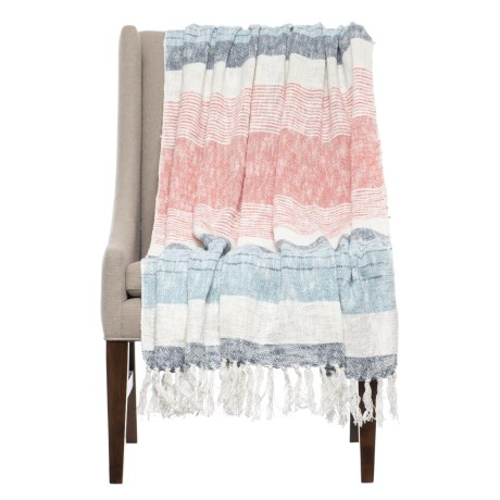"Artisan de Luxe Easton Stripe Throw Blanket - 50x60"" in Blue"