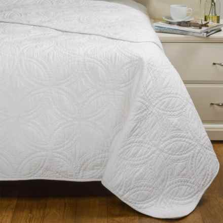 Artisan de Luxe Kalamata Quilted Coverlet - King in Bright White - Closeouts