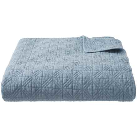 Artisan de Luxe Stonewash Window Quilt - Full-Queen in Dusty Blue - Closeouts