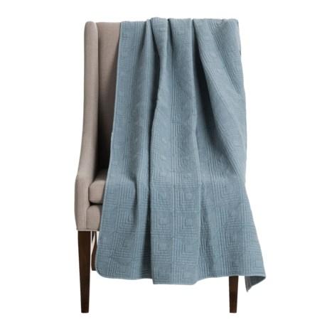 "Artisan De Luxe Stonewashed Diamond Throw Blanket - 50x60"" in Dusty Blue"