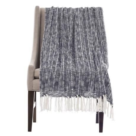 "Artisan de Luxe Stripe Throw Blanket - 50x60"" in Blue"