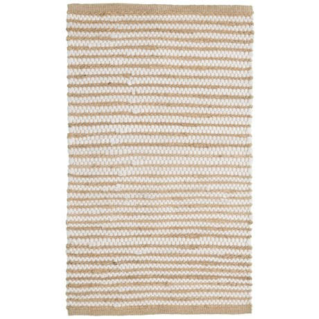 "Artisan Home Jute-Cotton Accent Rug - 27x45"" in Natural"