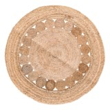 Artisan Home Made in India Jute Round Area Rug - 4'