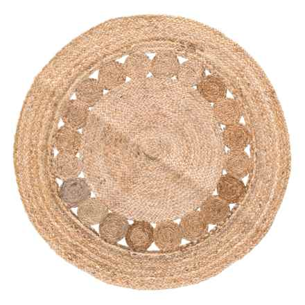 Artisan Home Made in India Jute Round Area Rug - 4' in Jute - Closeouts