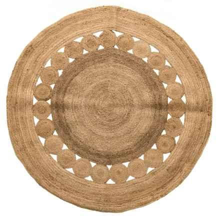 Artisan Home Made in India Jute Round Area Rug - 5' in Jute - Closeouts