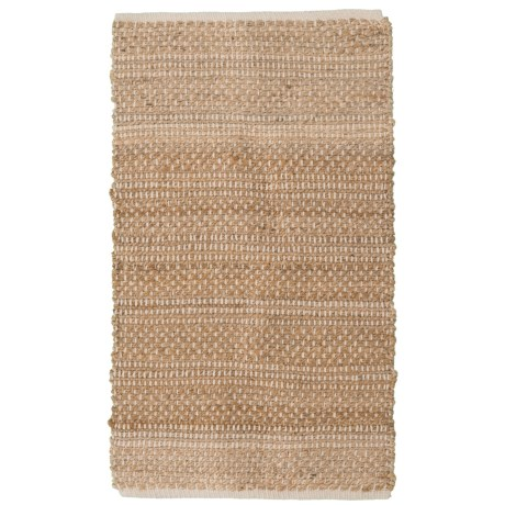 "Artisan Home Natural Jute-Cotton Accent Rug - 27x45"" in Natural"