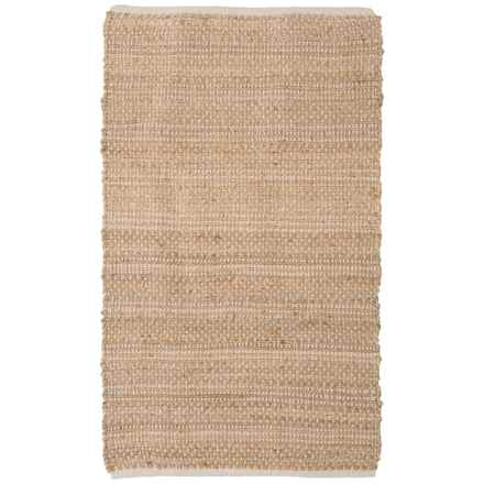 "Artisan Home Natural Jute-Cotton Blend Accent Rug - 36x60"" in Natural - Closeouts"