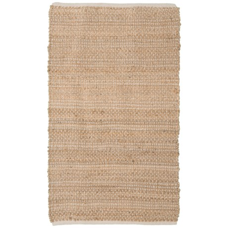 """Artisan Home Natural Jute-Cotton Blend Accent Rug - 36x60"""" in Natural"""